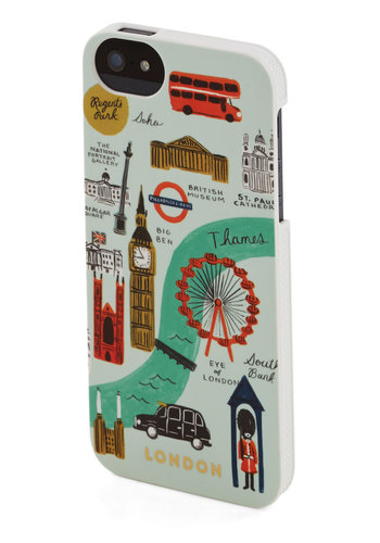 Streets of London iPhone 5/5S Case by Rifle Paper Co - Travel, Multi, Novelty Print