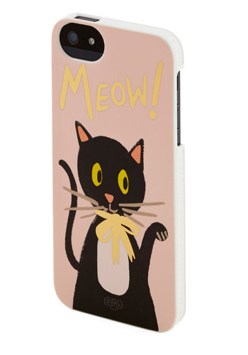 Me-Yowza! iPhone 5/5S Case by Rifle Paper Co - Pink, Black, Multi, Print with Animals, Travel, Cats