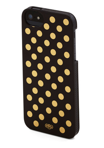 School of Spots iPhone 5/5S Case by Rifle Paper Co - Black, Gold, Polka Dots, Travel