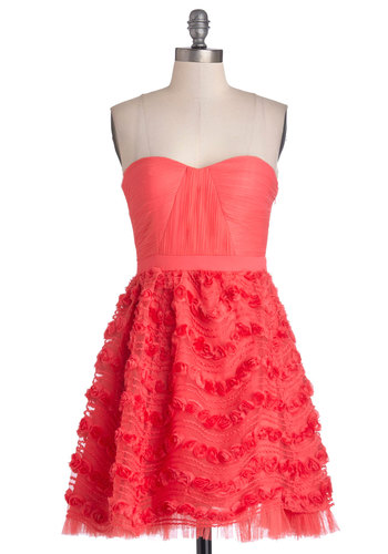 Occasion for Celebration Dress - Red, Solid, Flower, Prom, Party, A-line, Strapless, Better, Sweetheart, Woven, Mid-length, Knit, Gifts Sale, Wedding, Bridesmaid