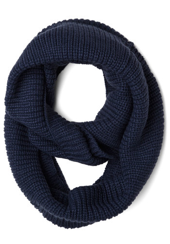 Infinity Plus One Circle Scarf in Navy - Solid, Knitted, Minimal, Good, Basic, Knit, Blue, Fall, Winter, Gifts Sale