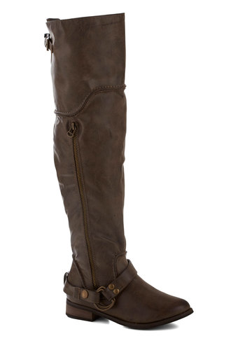 Trek Mate Boot by Restricted - Low, Faux Leather, Brown, Solid, Buckles, Casual, Fall, Winter, Gifts Sale
