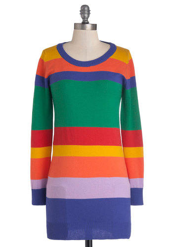 As Good as Bold Sweater - Multi, Stripes, Long Sleeve, Good, Cotton, Knit, Long, 80s, Scoop, Casual, Vintage Inspired, Multi, Long Sleeve, Gifts Sale