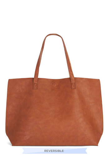 Inside-Haute Bag - Tan, Solid, Work, Minimal, Better, Basic, Faux Leather, Travel