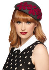 Exhibit True Style Hat - Grey, Red, Solid, Flower, Vintage Inspired, 20s, 30s, Best