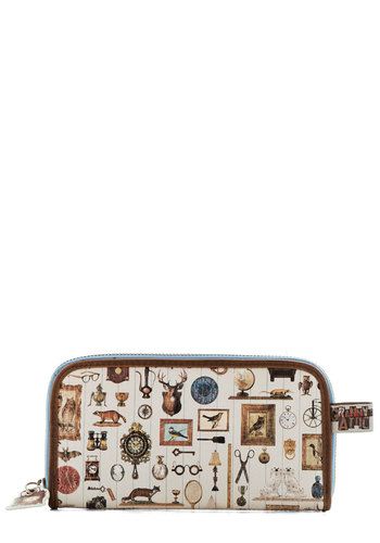 Collector's Item Wallet by Disaster Designs - Faux Leather, Print with Animals, Brown, Multi, Trim, Owls, Rustic, International Designer