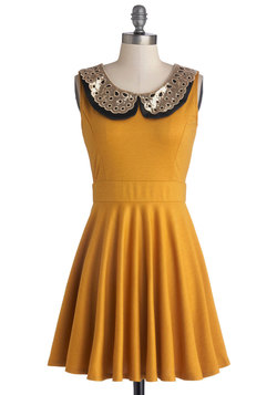 Two Happy Hearts Dress in Mustard