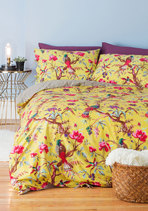 Flora and Fauna and Fabulous Duvet Cover Set in Full/Queen
