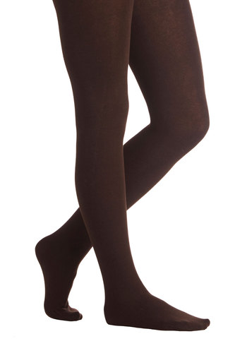 Truly Trustworthy Tights in Chocolate - Knit, Brown, Solid, Fall, Winter, Better, Variation, Basic