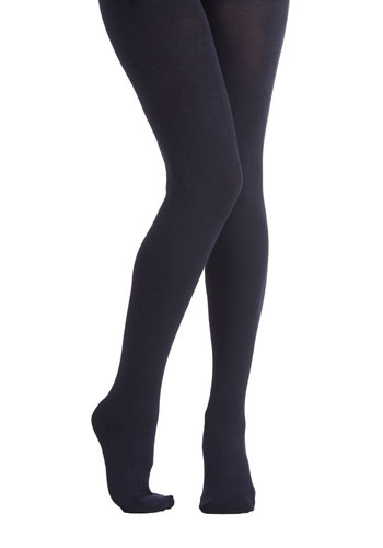 Truly Trustworthy Tights in Navy - Knit, Blue, Solid, Fall, Winter, Better, Variation, Basic