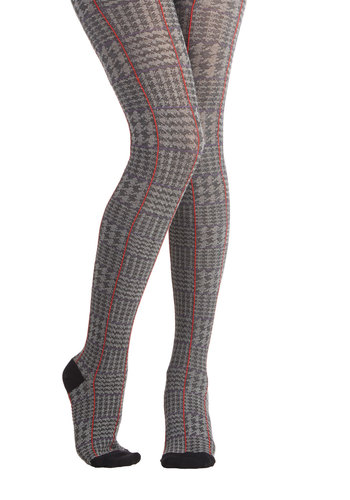 Around Loughton Tights - Grey, Red, Houndstooth, Fall, Winter, Better