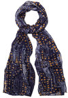 Reach for the Skyline Scarf - Woven, Blue, Yellow, Print, Casual, Better, Spring
