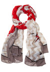 Ready to Globetrot Scarf - Woven, Red, Black, Grey, Nautical, Better, Multi, Tan / Cream, Novelty Print, Travel