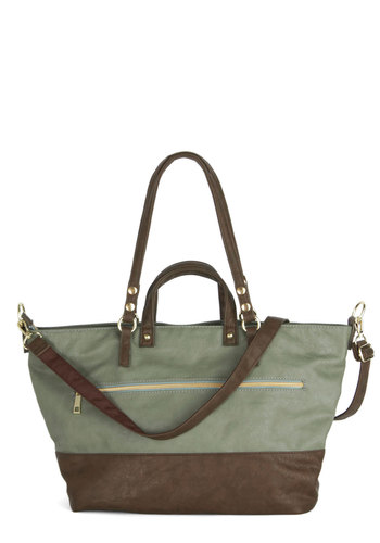 Metro Ride Bag - Green, Solid, Work, Casual, Colorblocking, Better, Faux Leather, Brown