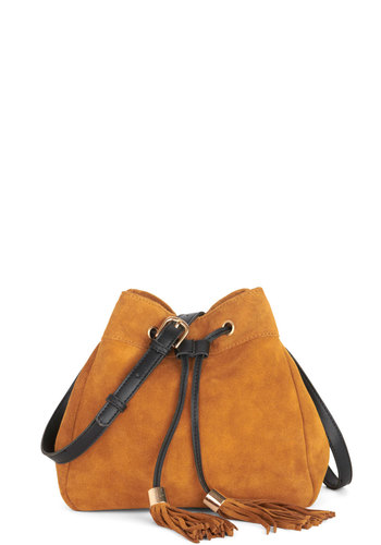 Wild, Wild West Coast Bag - Black, Gold, Solid, Tassles, Suede, Better, Leather, Tan, Casual
