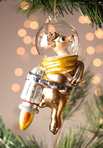 Rocketeer Reindeer Ornament by One Hundred 80 Degrees - Holiday, Critters