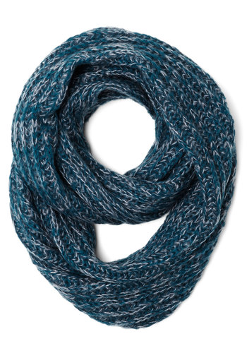 Seasonal Inspiration Circle Scarf in Winter - Knit, Blue, Solid, Casual, Fall, Winter, Better, Variation, Basic, Grey, Knitted
