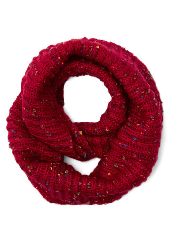 Pigments of My Imagination Circle Scarf in Red - Knit, Red, Multi, Solid, Casual, Fall, Winter, Better, Variation, Holiday