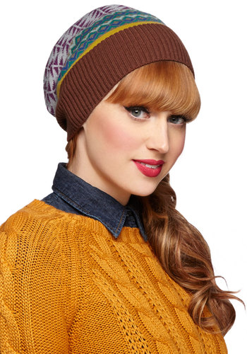 Juxtapose for the Camera Hat - Multi, Print, Fall, Winter, Knit, Casual