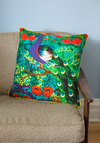 Paradisiacal Plumage Pillow by Karma Living - Multi, Multi, Boho, 70s, Neon, Better, Woven, Cotton, Festival