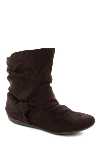 Agent Ninety-Fine Boot in Brown - Flat, Faux Leather, Brown, Solid, Good, Casual, Fall, Variation, Basic