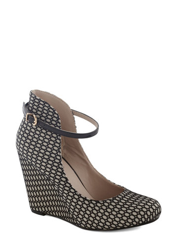 Dynamite Fishnet Wedge by Seychelles - Black, Best, Wedge, High, Print, Party, Girls Night Out