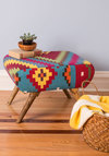 Livin' Lodge Ottoman by Karma Living - Multi, Boho, Dorm Decor, Best, Print, Woven