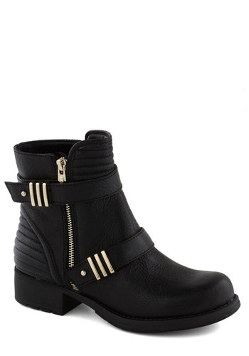 Fierce Fusion Boot - Low, Leather, Black, Solid, Exposed zipper, Casual, Urban