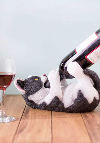 Fine Feline Wine Bottle Holder - Multi, Quirky, Cats, Better