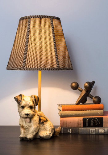Time to Get Pup Lamp - Multi, Vintage Inspired, Dorm Decor, Best, Print with Animals