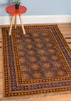 Fleur Plan Rug 4x6 - Cotton, Woven, Multi, Boho, Vintage Inspired, Dorm Decor, Best, Fringed
