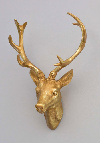 Antler Me This Wall Decor - Gold, Rustic, Better, Solid, Print with Animals, Dorm Decor, Folk Art, Holiday