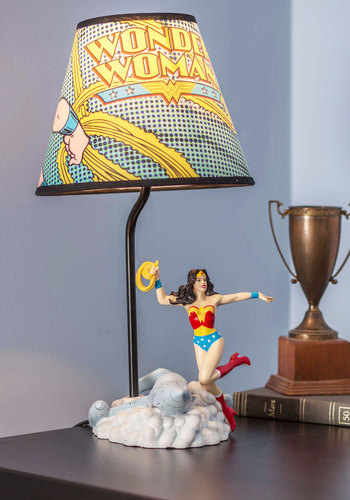 Comic and Collected Lamp - Multi, Multi, Dorm Decor, Best, Nifty Nerd, Novelty Print