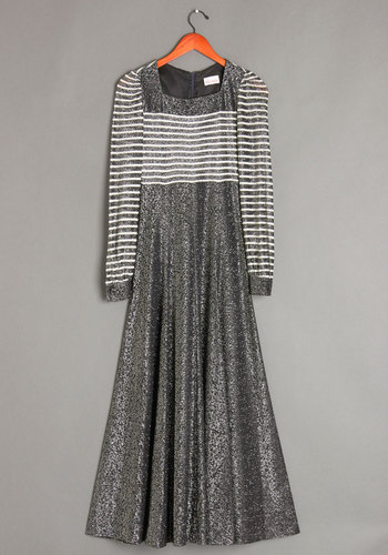 Vintage Tinsel Gown Dress
