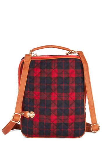 App-Plus Student - Faux Leather, Woven, Red, Plaid, Scholastic/Collegiate, Black, Tan / Cream, Vintage Inspired, 90s, Exclusives, Gifts Sale
