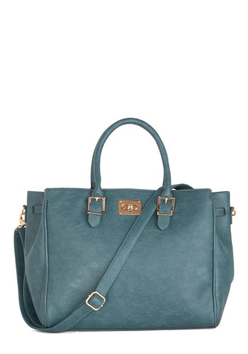Downtown Day Trip Bag in Deep Teal - Faux Leather, Blue, Solid, Work, Minimal, Variation, Gifts Sale