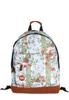 Posy Potpourri Backpack - Faux Leather, Woven, Blue, Multi, Floral, Scholastic/Collegiate, Good, Travel, Spring