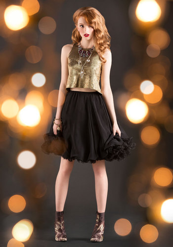 Vintage Silent Movie Night Skirt