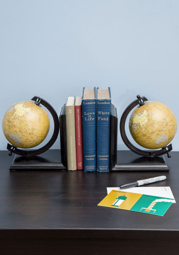 Meet Your Map Bookends - Multi, Travel, Best, Graduation, Guys
