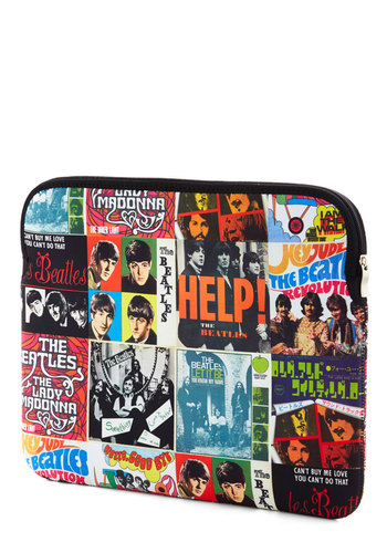 "They Got the Beatles Laptop Sleeve - 15"" by Disaster Designs - Multi, Vintage Inspired, 60s, 70s, Travel, International Designer, Novelty Print"