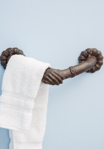 Helping Hands Towel Holder - Bronze, Vintage Inspired, French / Victorian, Good, Wedding