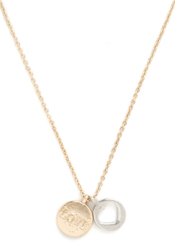 Simple Statement Necklace - Solid, Silver, Gold, Good, Valentine's