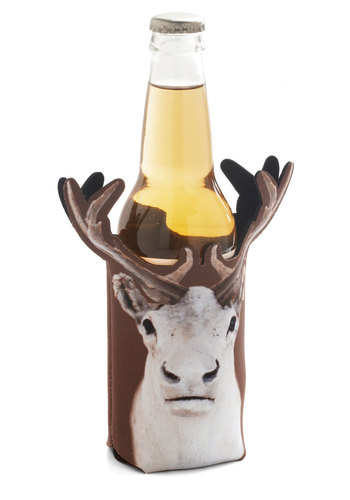 Cheers for Deers Beverage Sleeve by Decor Craft Inc. - Multi, Quirky, Good, Rustic