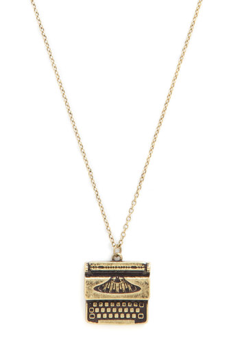 Live Up to the Type Necklace - Solid, Nifty Nerd, Gold, Good, Graduation, Top Rated