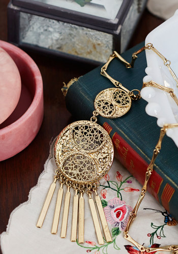 An Eye for the Ethereal New Heirloom Necklace - Solid, Tiered, Boho, Gold, Better, Vintage Inspired, 20s, 30s, Exclusives, Gals