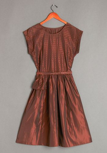Vintage Mahogany Memories Dress