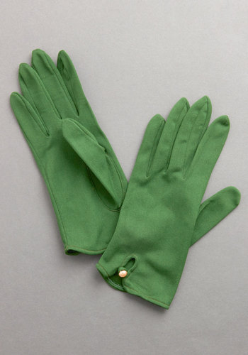 Vintage Evergreen Garland Gloves
