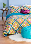 Lively Dreams Duvet Cover Set in Full/Queen by Karma Living - Cotton, Woven, Multi, Boho, Dorm Decor, Best, Gifts Sale