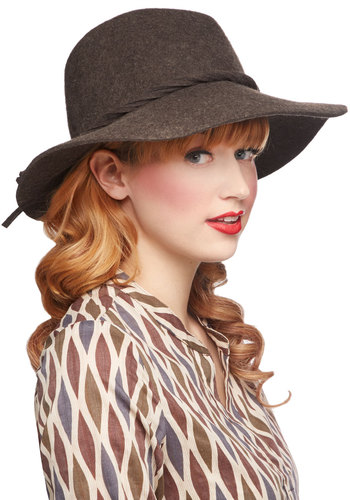 In Cute Cahoots Hat - Brown, Solid, Braided, Boho, Best, Vintage Inspired, 60s, 70s