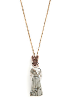 Back in the Rabbit Necklace